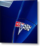 1963 Chevrolet Corvette Sting Ray Fuel Injected Split Window Coupe Hood Emblem Metal Print