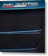 1963 Chevrolet Corvette Sting Ray Fuel-injection Split Window Coupe Emblem Metal Print