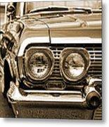 1963 Chevrolet Impala Ss In Sepia Metal Print