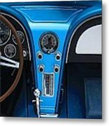 1963 Corvette Dash Metal Print