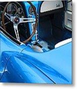 1963 Corvette Driver Approach Metal Print
