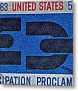 1963 Emancipation Proclamation Stamp Metal Print