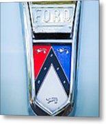 1963 Ford Falcon Futura Convertible Emblem Metal Print by Jill Reger