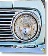 1963 Ford Falcon Futura Convertible Headlight - Hood Ornament Metal Print