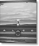 1963 Ford Falcon Sprint Convertible Bw    Metal Print by Rich Franco