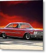 1963 Ford Galaxie 427 Metal Print by Dave Koontz