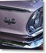 1963 Ford Galaxie Front End And Badge Metal Print