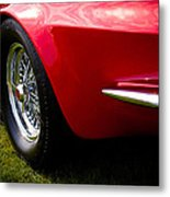 1963 Red Chevy Corvette Stingray Metal Print