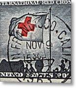 1963 Red Cross Stamp - San Francisco Postmark Metal Print