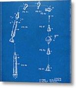 1963 Space Capsule Patent Blueprint Metal Print