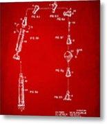 1963 Space Capsule Patent Red Metal Print