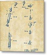1963 Space Capsule Patent Vintage Metal Print