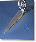 1964 Buick Riviera 2 Door Hardtop Hood Ornament Metal Print by Jill Reger