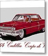 1964 Cadillac Coupe De Ville Metal Print