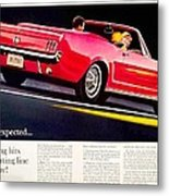 1964 - Ford Mustang Convertible - Advertisement - Color Metal Print