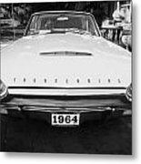 1964 Ford Thunderbird Painted Bw Metal Print