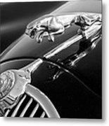 1964 Jaguar Mk2 Saloon Hood Ornament And Emblem Metal Print
