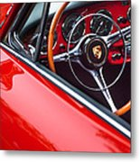1964 Porsche 356 Carrera 2 Steering Wheel Metal Print