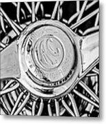 1964 Shelby 289 Cobra Wheel Emblem -0666bw Metal Print