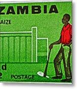 1964 Zambia Farmer Stamp Metal Print
