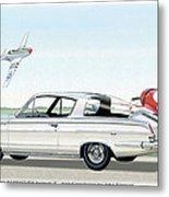 1965 Barracuda  Classic Plymouth Muscle Car Metal Print