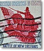 1965 Battle Of New Orleans Stamp Metal Print