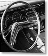 1965 Buick Riviera Steering Wheel Metal Print