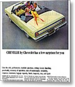 1965 Chevelle Convertible Metal Print