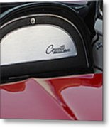 1965 Chevrolet Corvette Dashboard Emblem Metal Print