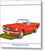 1965 Ford Mustang Convertible Pony Car Metal Print