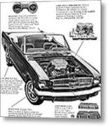 1965 Ford Mustang Performance Kits Metal Print