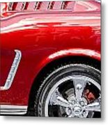1965 Ford Mustang Really Red Metal Print