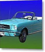 1965 Mustang Convertible Metal Print