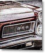 1965 Pontiac Gto Grille Emblem -0442ac Metal Print