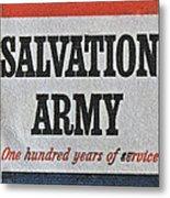 1965 Salvation Army Stamp Metal Print