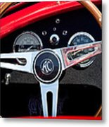 1965 Shelby Ac Cobra Roadster 289 Steering Wheel Emblem Metal Print