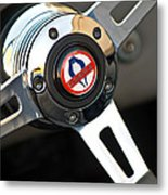 1965 Shelby Cobra 427 Steering Wheel Emblem Metal Print