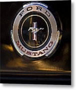 1965 Shelby Prototype Ford Mustang Emblem 2 Metal Print