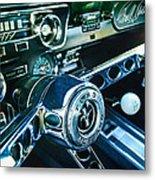 1965 Shelby Prototype Ford Mustang Steering Wheel Emblem 2 Metal Print