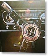 1965 Shelby Prototype Ford Mustang Steering Wheel Emblem Metal Print