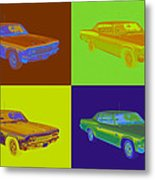 1966 Chevrolet Caprice 427 Muscle Car Pop Art Metal Print