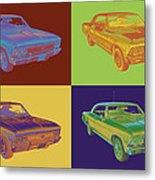 1966 Chevy Chevelle Ss 396 Car Pop Art Metal Print