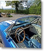 1966 Convertible Mustang On Tour In The Cotswolds Metal Print