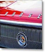 1966 Dodge Charger Grille Emblem Metal Print