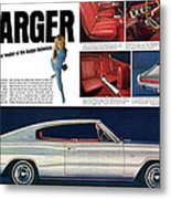 1966 Dodge Charger - New Leader Of The Dodge Rebellion Metal Print