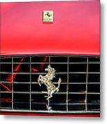 1966 Ferrari 330 Gtc Coupe Hood Emblem -0391c Metal Print