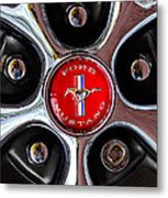1966 Ford Mustang Gt Wheel Emblem Metal Print