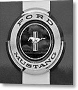 1966 Ford Mustang Shelby Gt 350 Emblem Gas Cap -0295bw Metal Print