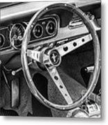 1966 Mustang Dashboard Bw Metal Print