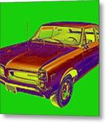 1966 Pointiac Lemans Car Pop Art Metal Print